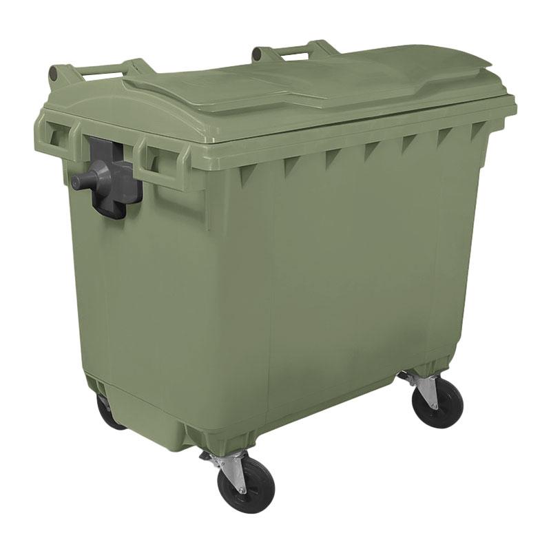Пластиковый евроконтейнер для мусора 770 литров. (импорт)