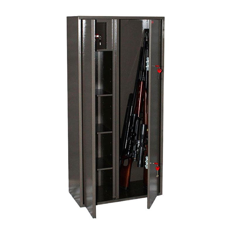 Шкаф для хранения оружия «Д-10» ключевой сейфовый замок