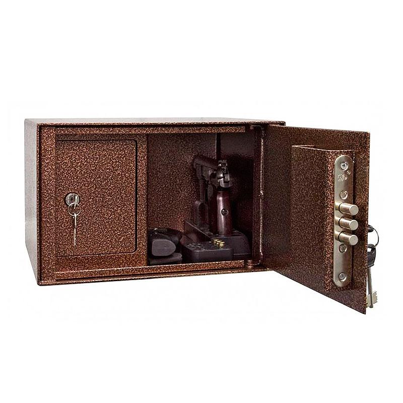 Пистолетный сейф «ШП-3» ключевой сейфовый замок