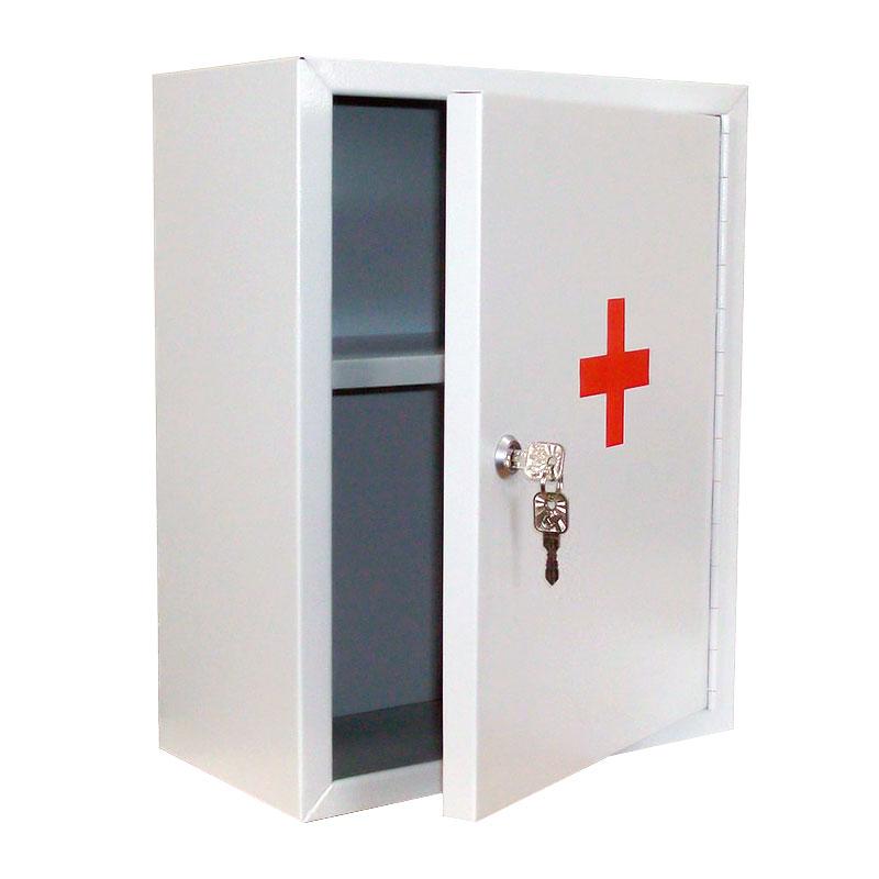 Медицинская металлическая аптечка