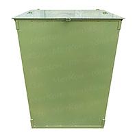 Металлический контейнер 750 литров с крышкой (толщина 2.0 мм)