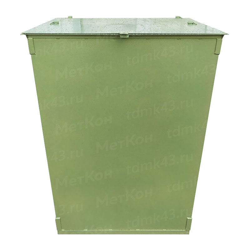 Металлический контейнер 750 литров с крышкой (толщина 1.5 мм)