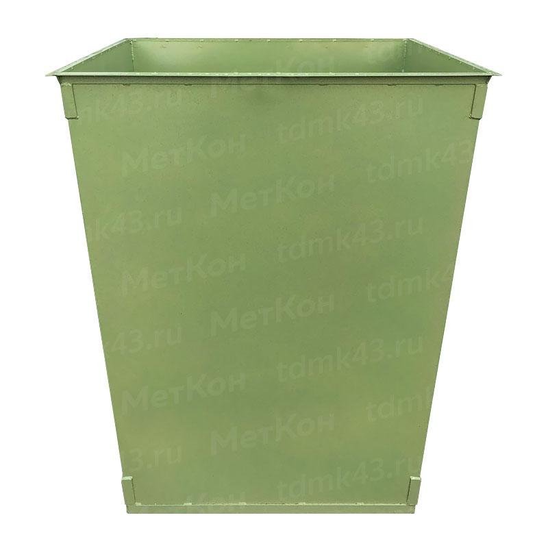 Металлический контейнер 750 литров без крышки (толщина 1.5 мм)