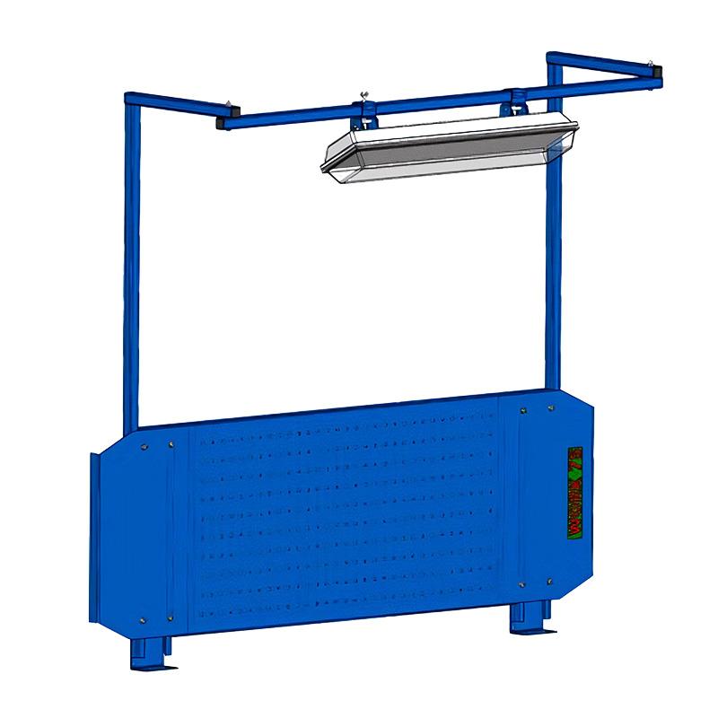 Перфорированный экран W 1500 со светильником