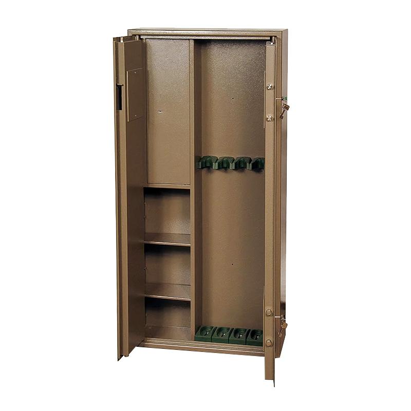 Шкаф для хранения оружия «ОШ-5П» ключевой сейфовый замок