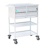 Медицинский стол-тележка с 4-мя ящиками для перевязочной